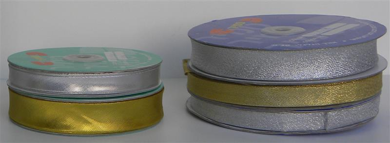 Lurex bias tape