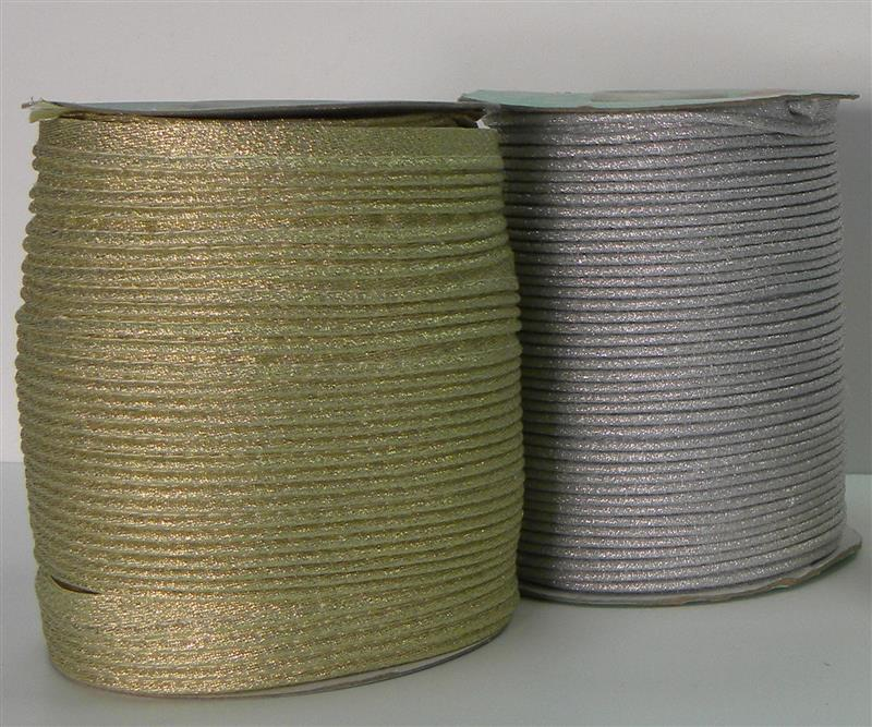 Lurex bias cord